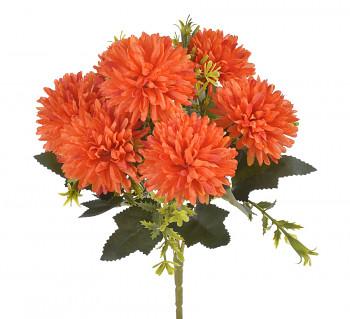 Umělá květina CHRYZANTEMY ORANŽOVÉ