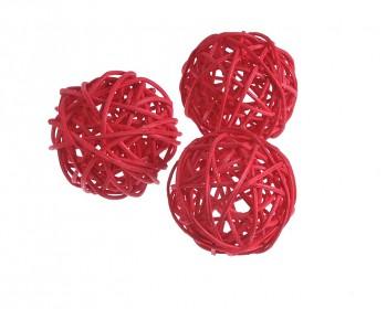 Ratanová koule mini červená