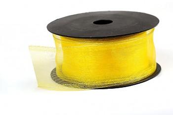 Aranžerská stuha žlutá organza