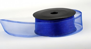 Aranžerská stuha tmavě modrá organza