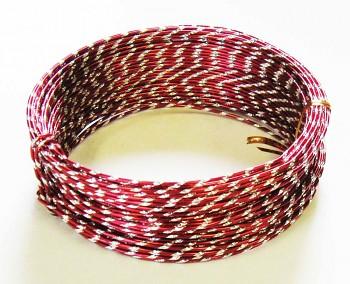 Ozdobný drátek červený
