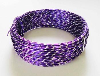 Ozdobný drátek fialový