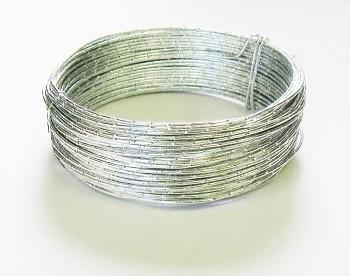 Ozdobný drátek stříbrný