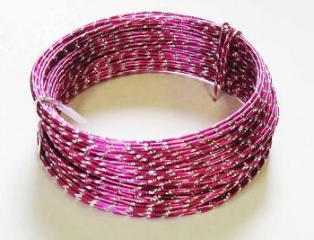 Ozdobný drátek růžový