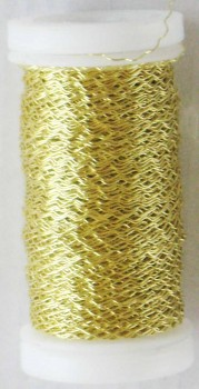 Dekorační  drátek zlatý