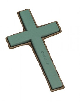 Kříž s podložkou, smuteční dekorace